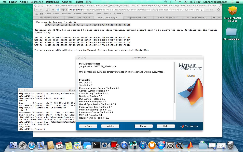 Matlab Mac OSX Installation - Computing - DESY Confluence