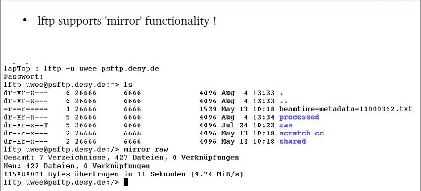 Accessing Beamtime Data Using Ftp Asap3 Desy Confluence
